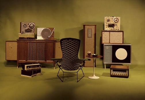 Vintage Stereo Equipment --- Image by © Playboy Archive/Corbis